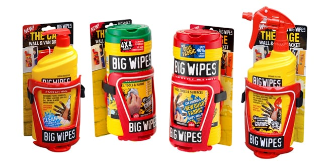 Popular - New Big Wipes Cage means installers can always keep their wipes close to hand