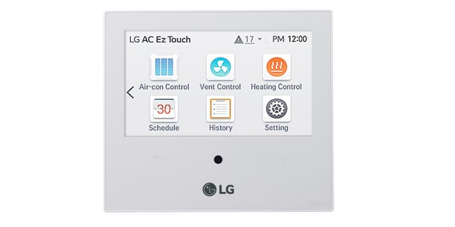 Popular - LG launches new AC EZ Touch controller for heating and air conditioning products