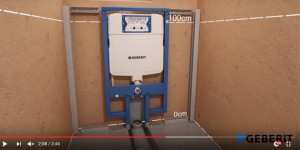 Geberit Duofix Frame with Sigma Cistern 8cm Installation Video