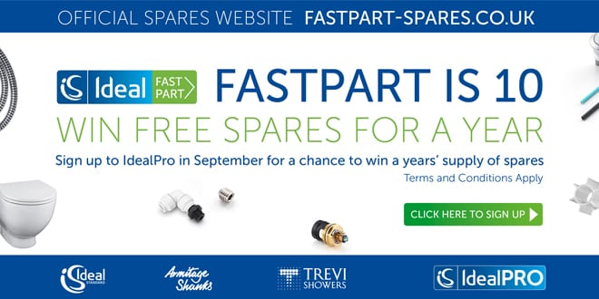 Popular - Win £5,000 of spare parts with Ideal Standard