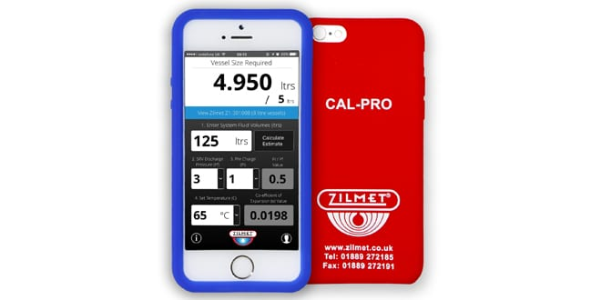 Popular - Zilmet launches free app to help installers calculate the size of expansion vessel needed for the job