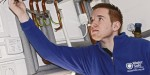 What type of plumbing work requires installers to notify the local water company?