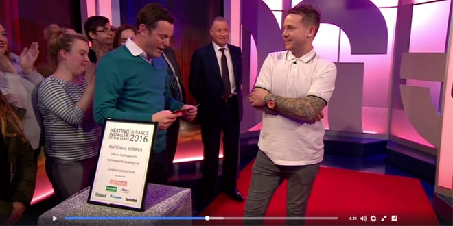 Popular - Heating Installer of the Year 2016 Den Hollingworth appears on BBC's The One Show