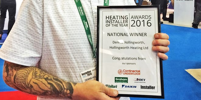 Popular - What is it like winning the Heating Installer Awards? Den Hollingworth shares his story