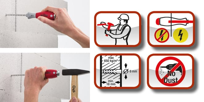 Popular - New dowel racket from Wiha allows installers to hammer dowel holes effortlessly and safely