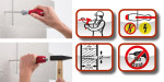 New dowel racket from Wiha allows installers to hammer dowel holes effortlessly and safely