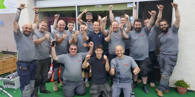 """Popular - Viessmann's """"Heroes of Heat"""" team of 12 installers comes to rescue of Monkey Park social enterprise in Chesterfield"""