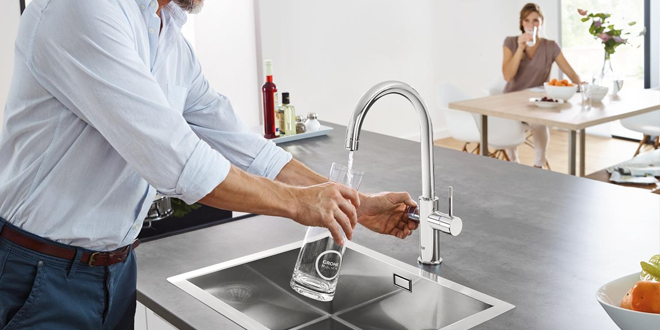 Grohe Blue Alternative filtered water taps could help eliminate the uk s plastic waste