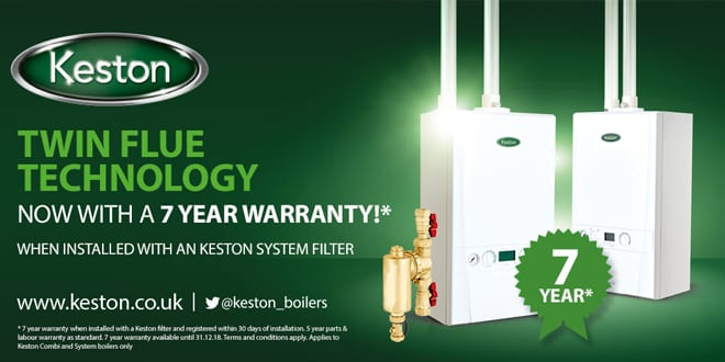 Popular - Keston announces 7 year warranties for combi and system boilers