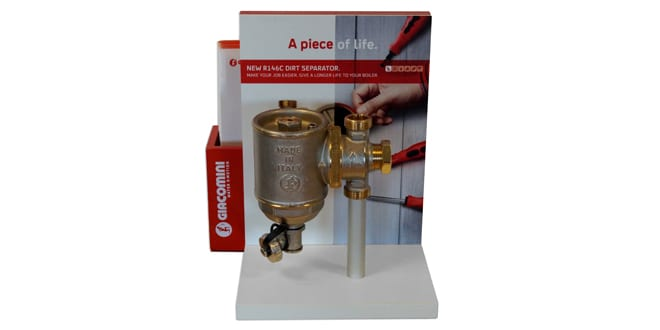 Popular - Giacomini's R146C dirt separator available at Professional Plumbing Supplies