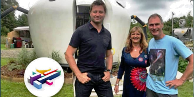 """Popular - Sparkie's UFO-inspired """"Glamping"""" pod appears on George Clarke's Amazing Spaces"""