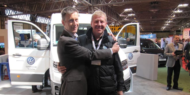 Popular - Volkswagen Commercial Vehicles is celebrating 'Hug A Plumber Day' at the CV show