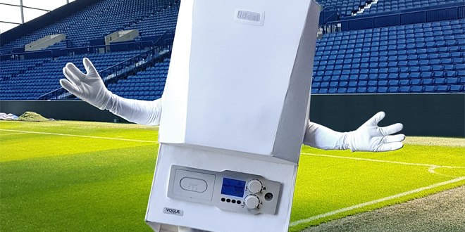 """2f2db8b17f New Ideal Boilers mascot """"Boiler Man"""" gets warm reception from football  fans."""