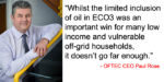 OFTEC says revisions to ECO don't go far enough to protect low income homes from fuel poverty