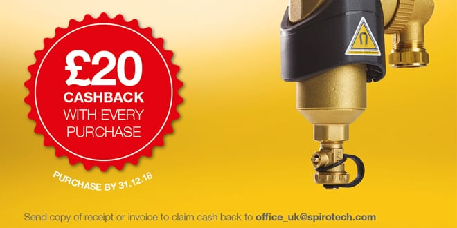 Popular - Spirotech offering £20 cashback to installers fitting the SpiroCombi MB3