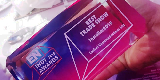 Popular - Installer2018 scoops coveted Best Trade Show award