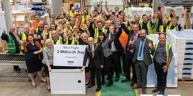 Popular - Mira celebrates two millionth Mira Flight shower tray milestone