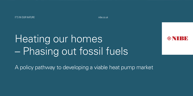 NIBE develops a policy pathway for phasing out fossil fuels and creating a viable heat pump market