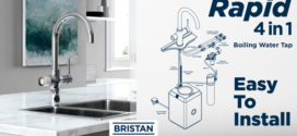 New Bristan Rapid 4-in-1 tap delivers hot, cold, boiling and filtered water from a single unit.
