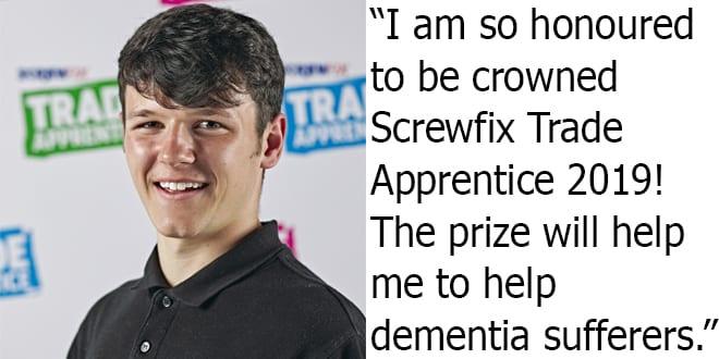 Popular - Callum Abberley named Screwfix Trade Apprentice 2019
