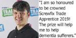 Callum Abberley named Screwfix Trade Apprentice 2019