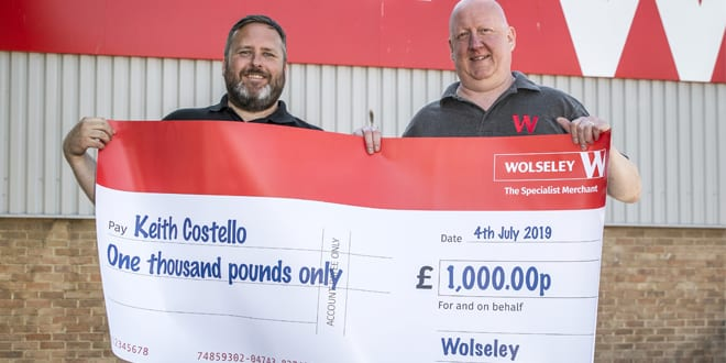 """Popular - Heating and plumbing engineer """"grabs a grand"""" from Wolseley"""