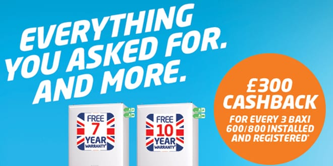 Popular - Baxi announces cashback and prize giveaway to celebrate the launch of the Baxi 800 range