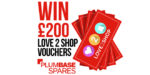 Win £200 in Love2Shop vouchers with Plumbase Spares!
