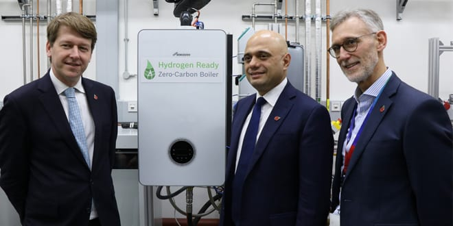 Popular - Sajid Javid MP visits Worcester Bosch to see the company's first hydrogen-ready boiler