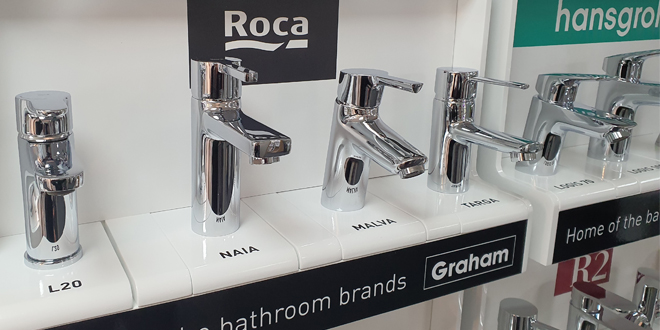 Graham launches new taps bars in all bathroom showrooms