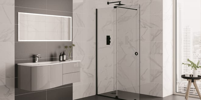 Popular - Aquadart launches Rolla 8 range of matt black frameless sliding doors with chance to 'Roll an 8'