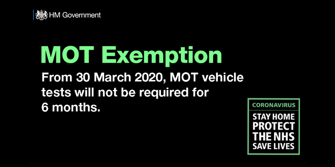 Vehicle owners to be granted MOT exemption in battle against coronavirus