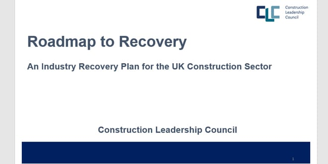 Popular - New 'Roadmap to Recovery' aims to 'reinvent' construction industry