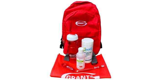 Popular - Summer essentials backpacks to support installers and engineers available from Grant UK