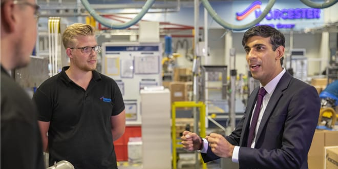 Popular - Chancellor Rishi Sunak MP visits Worcester Bosch to learn about safe gas technology
