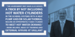 """Government """"may have missed a trick by not including hot water cylinders in Green Homes Grant"""" – Vaillant"""