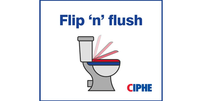 Popular - The CIPHE urges consumers to flip and flush