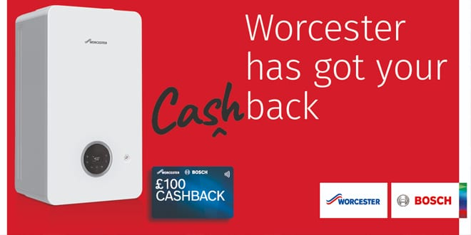 Popular - Worcester Bosch offers installers up to £100 cashback