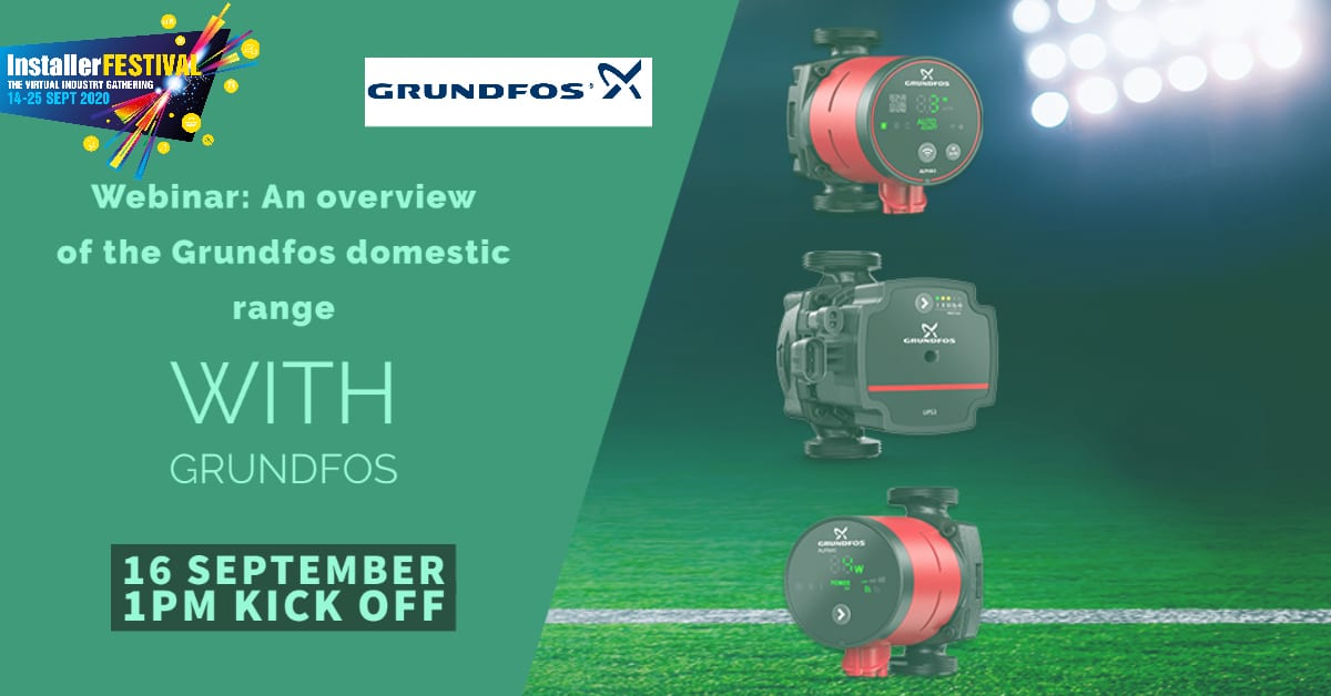 Popular - Webinar: an overview of the Grundfos domestic range