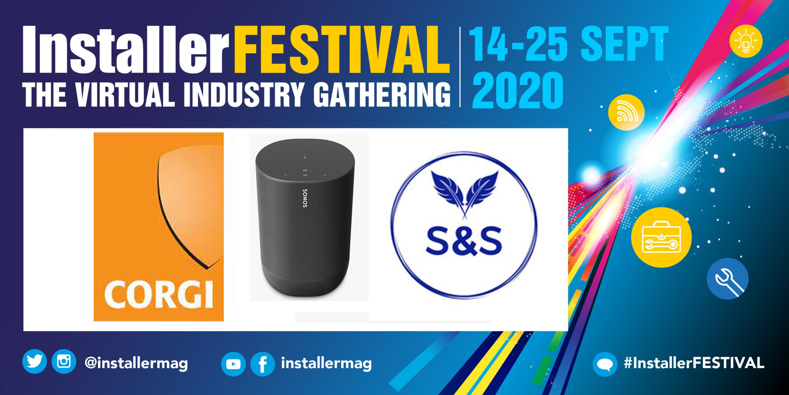 Popular - Win a smart speaker with CORGI Services at InstallerFESTIVAL