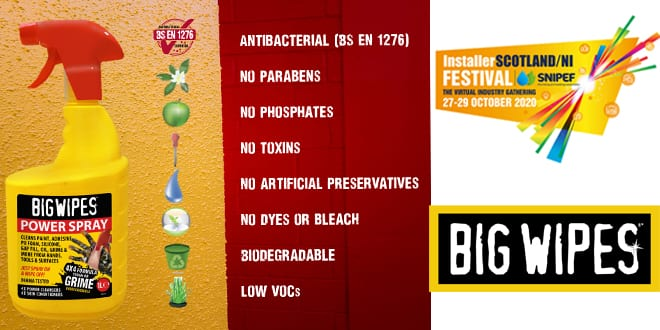 Popular - Big Wipes to host product giveaway during InstallerSCOTLAND/NI FESTIVAL