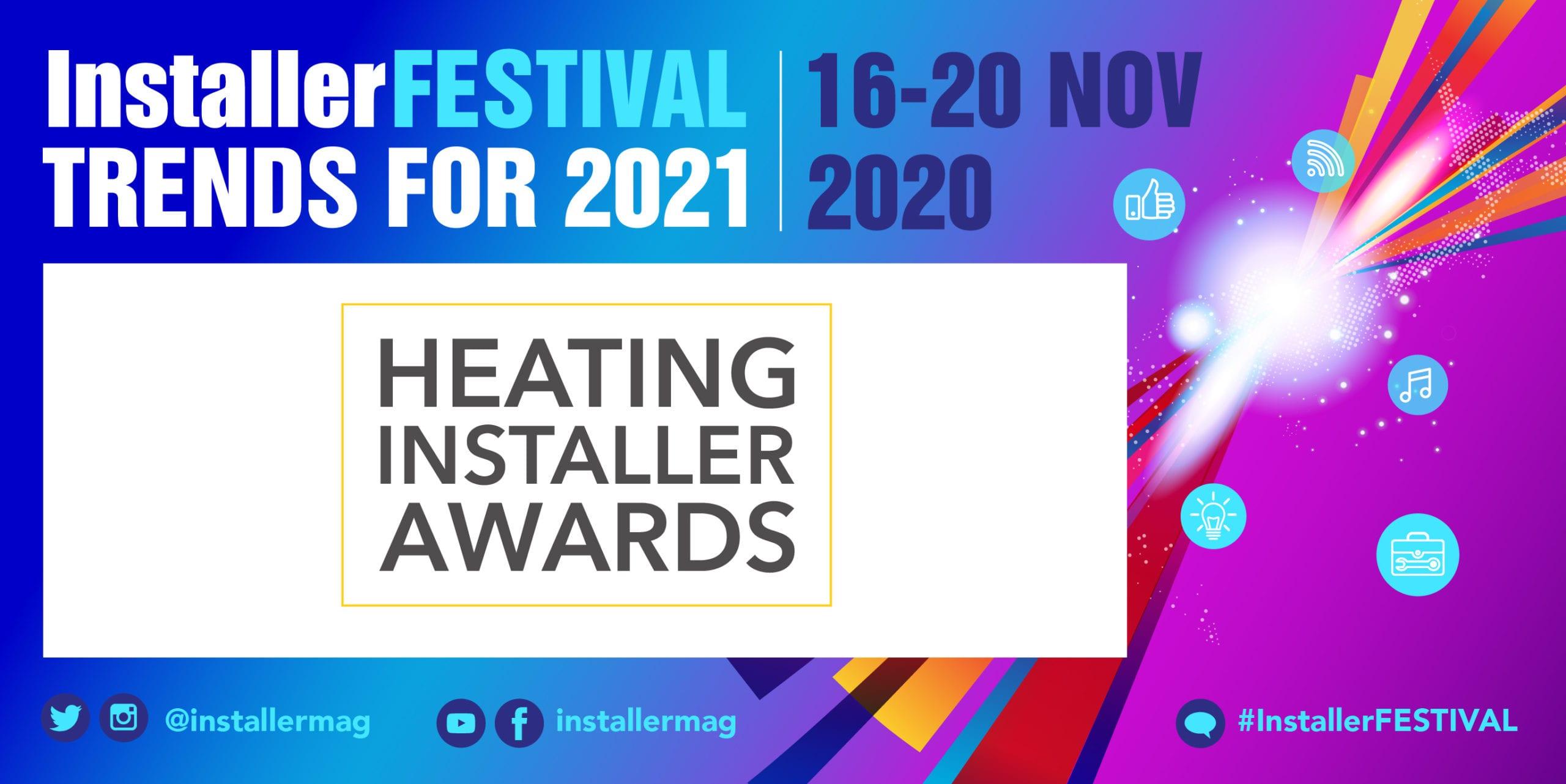 Popular - Installer catches up with Heating Installer Awards 2020 winners for InstallerFESTIVAL