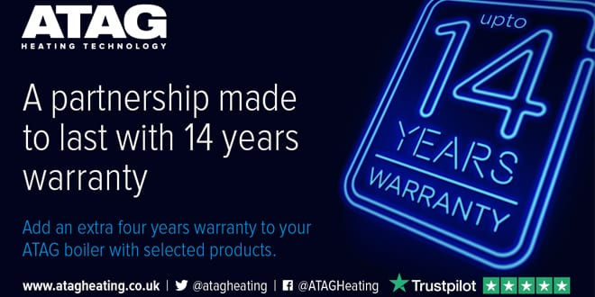 Popular - ATAG sets a new level with  industry-leading 14-year warranty