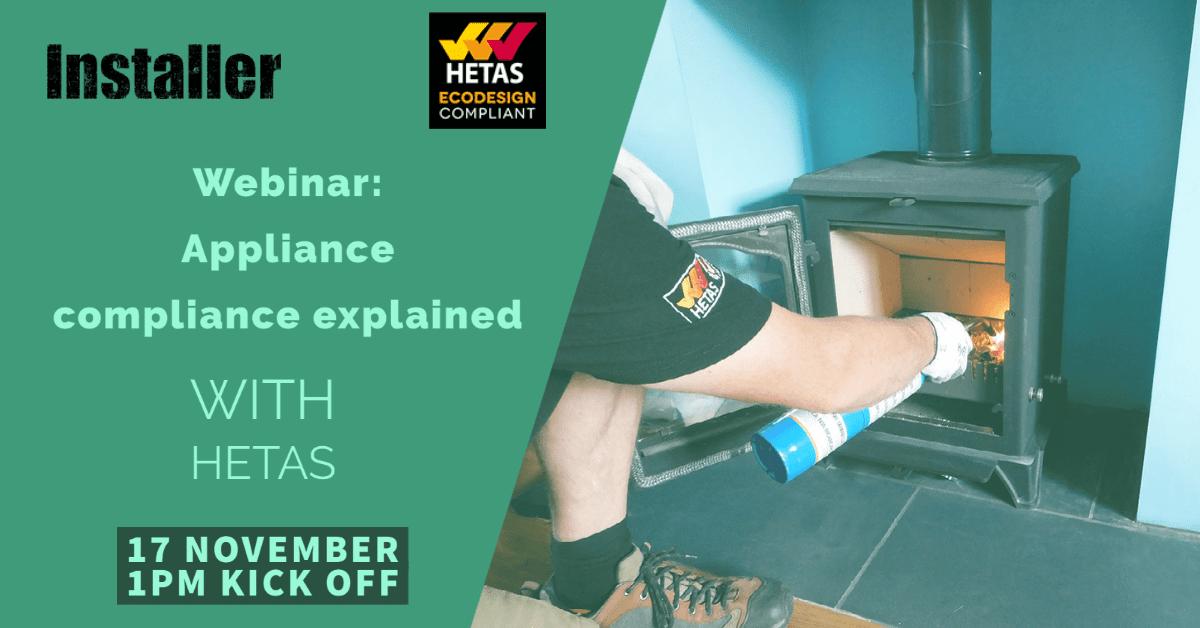 Popular - Webinar: Explaining appliance compliance with HETAS