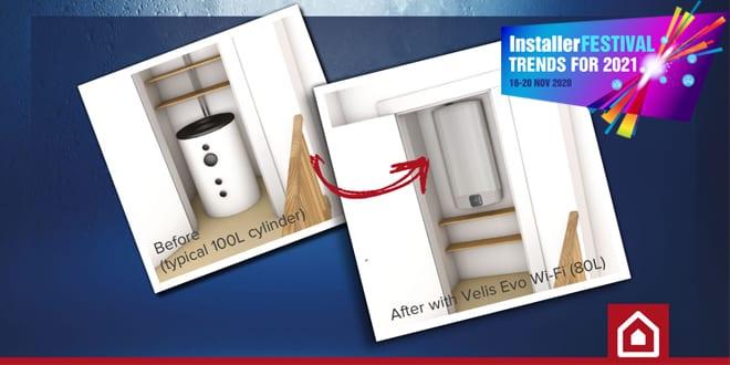 Popular - Ariston introduces Velis Evo – a revolutionary new electric storage water heater –  at InstallerFESTIVAL