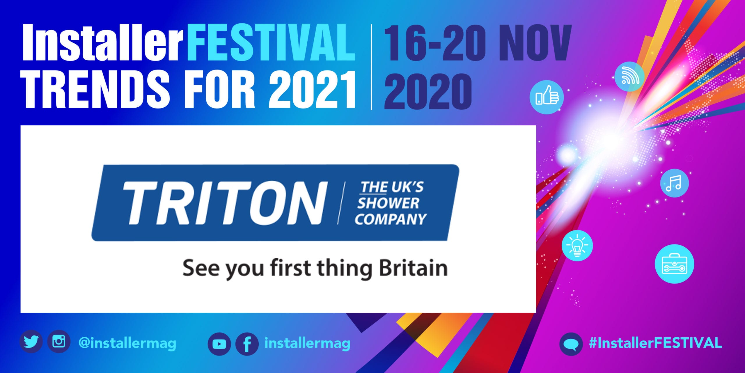 Popular - Triton Showers Q&A gives heads up on the future of training and launches competition with InstallerFESTIVAL