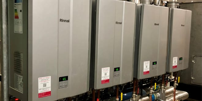 Popular - Up to 1,000 litres per hour of temperature-precise hot water with Rinnai UK