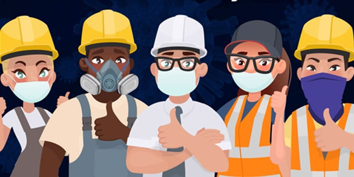 Popular - New CICV Forum campaign urges workers to use  face masks properly during lockdown – along with reminder to follow other essential safety measures
