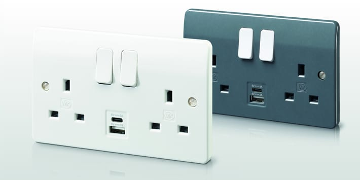 Popular - MK Electric launches USB Intergrated Sockets to smooth transition from 'A' to 'C'
