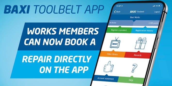 Popular - Baxi launches 'Book a Repair' feature on its Toolbelt App